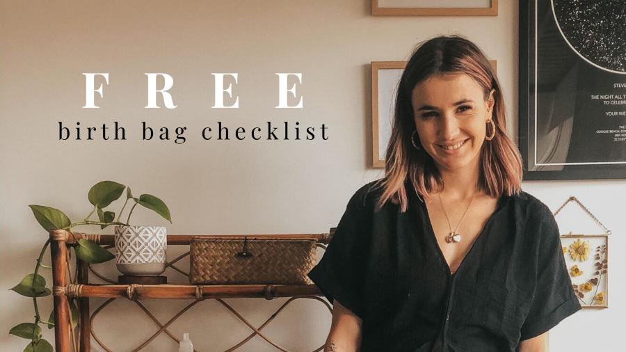 free birth bag checklist